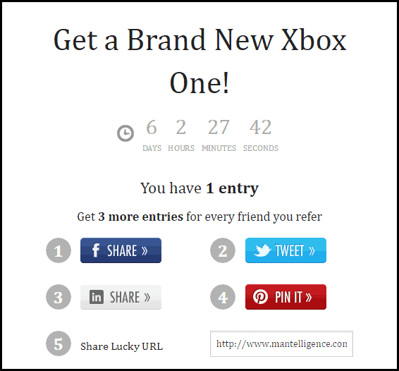 xbox giveaway share