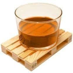 miniature wood pallet coasters