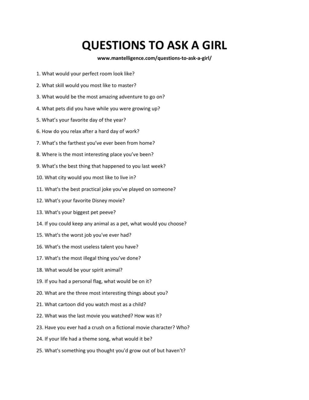 QUESTIONS TO ASK A GIRL-1