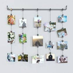 clip and chain hanging photo display