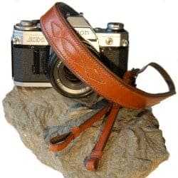 handmade leather camera carrying strap