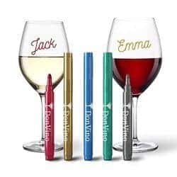 metallic wine glass markers