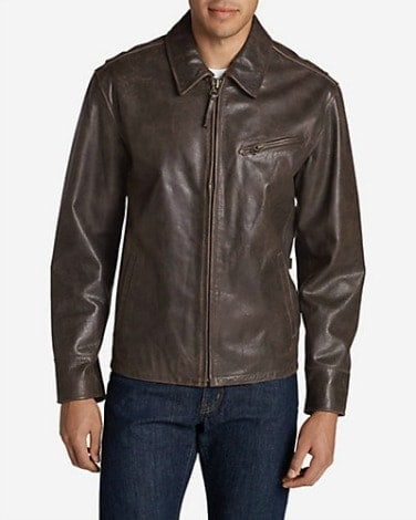 Eddie Bauer Leather Journeyman Bomber Jacket 1