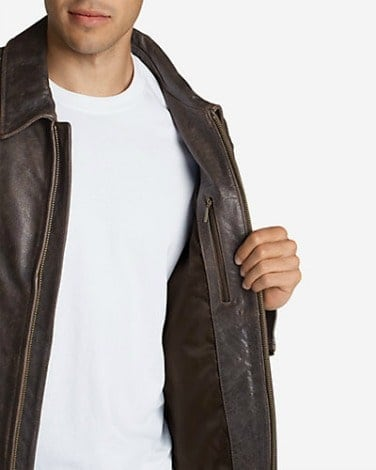 Eddie Bauer Leather Journeyman Bomber Jacket 2