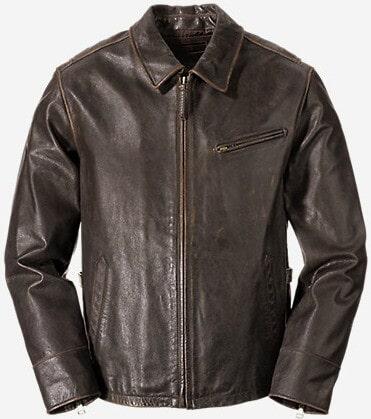 Eddie Bauer Leather Journeyman Bomber Jacket