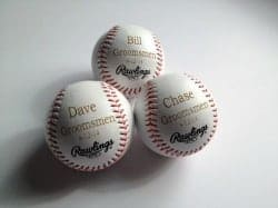 Engraved Baseball