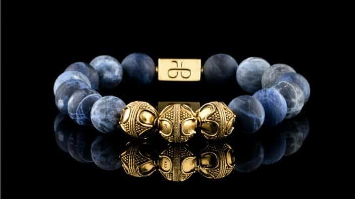 Aurum Brothers Premium Silver Lava Bracelet 1