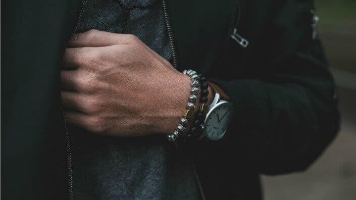 Aurum Brothers Premium Silver Lava Bracelet 2