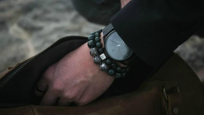 Aurum Brothers Premium Silver Lava Bracelet 3