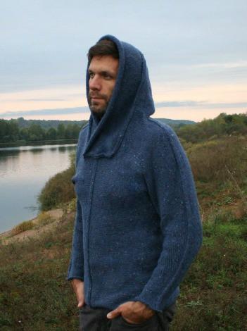 KNITOMANIAC Handmade Alpaca Sweater With Hood 2