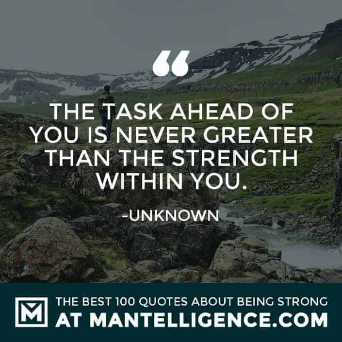 quotes about strength #12 - The task ahead of you is never greater than the strength within you.