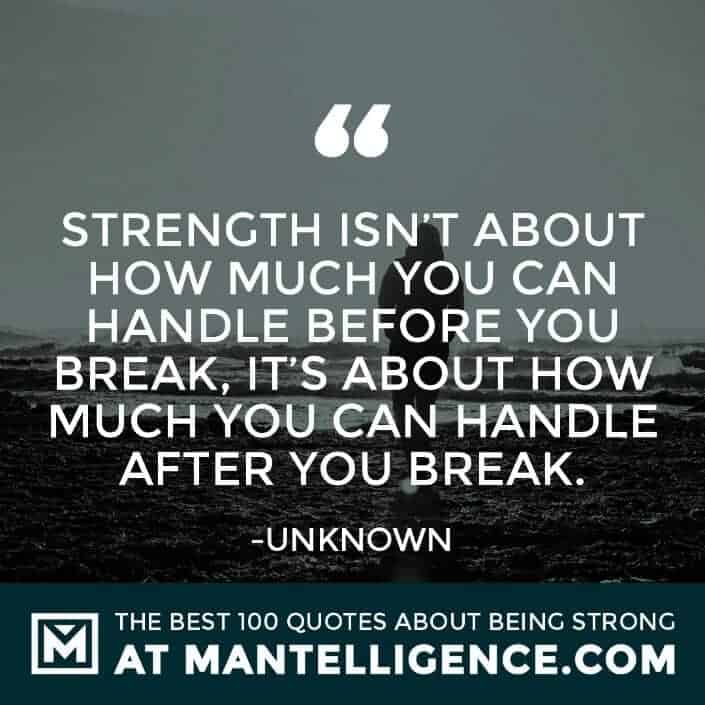 quotes about strength #18 - Strength isn't about how much you can handle before you break, it's about how much you can handle after you break.