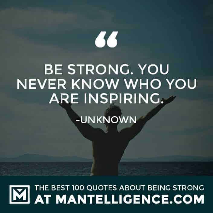 quotes about strength #24 - Be strong. You never know who you are inspiring.