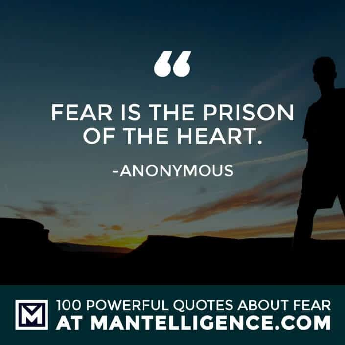 fear quotes #29 - Fear is the prison of the heart.