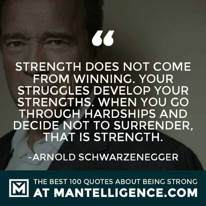 quotes about strength #5 - Strength does not come from winning. Your struggles develop your strengths. When you go through hardships and decide not to surrender, that is strength.
