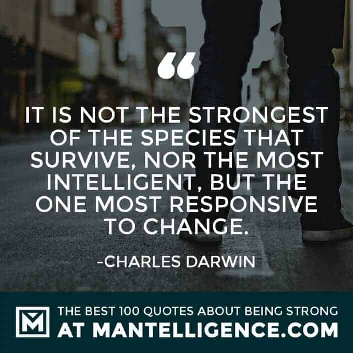 quotes about strength #81 - It is not the strongest of the species that survive, nor the most intelligent, but the one most responsive to change.