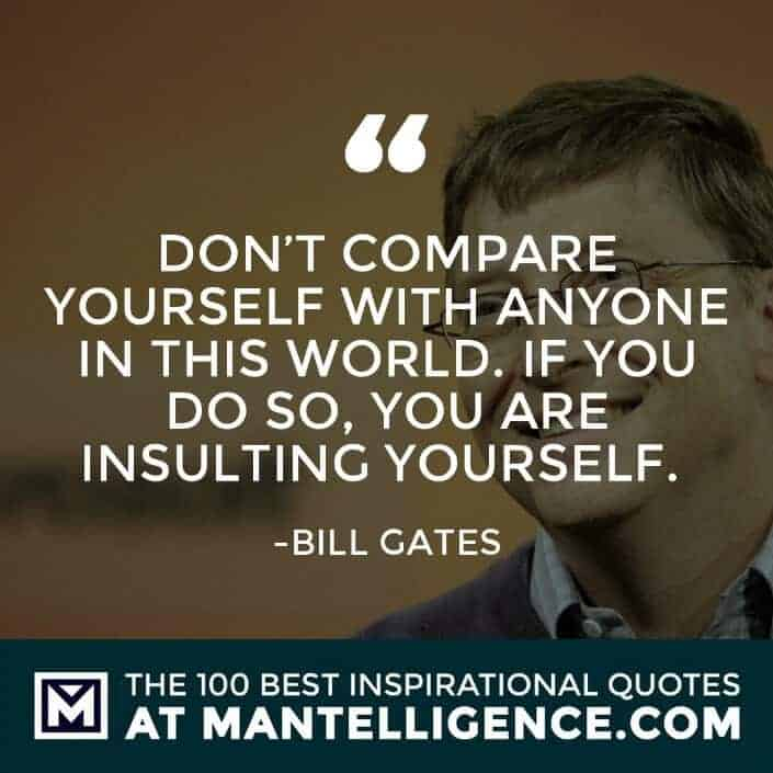 inspirational sayings - Don't compare yourself with anyone in this world. If you do so, you are insulting yourself.