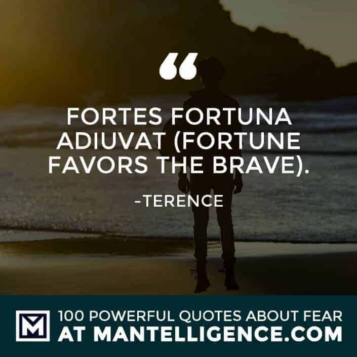 fear quotes #82 - Fortes Fortuna Adiuvat (Fortune Favors the Brave).