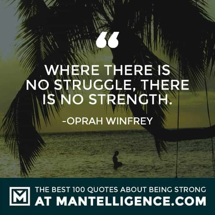quotes about strength #98 - Where there is no struggle, there is no strength.