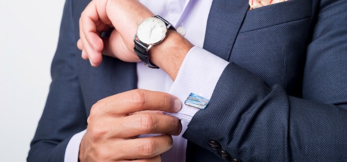 style tips for men - never wear a sports watch sport sunglasses with a suit