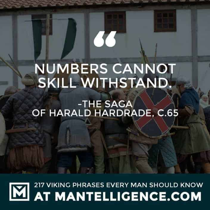 Viking Quotes - Numbers cannot skill withstand.
