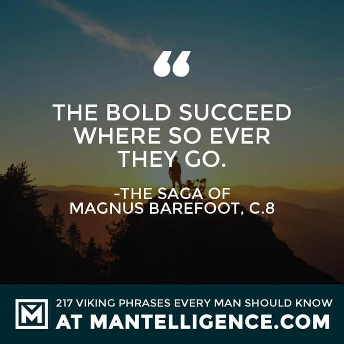 Viking Quotes - The bold succeed where so ever they go.