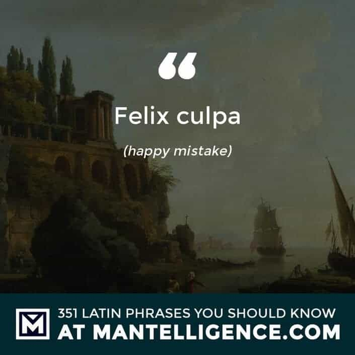 Felix culpa - happy mistake