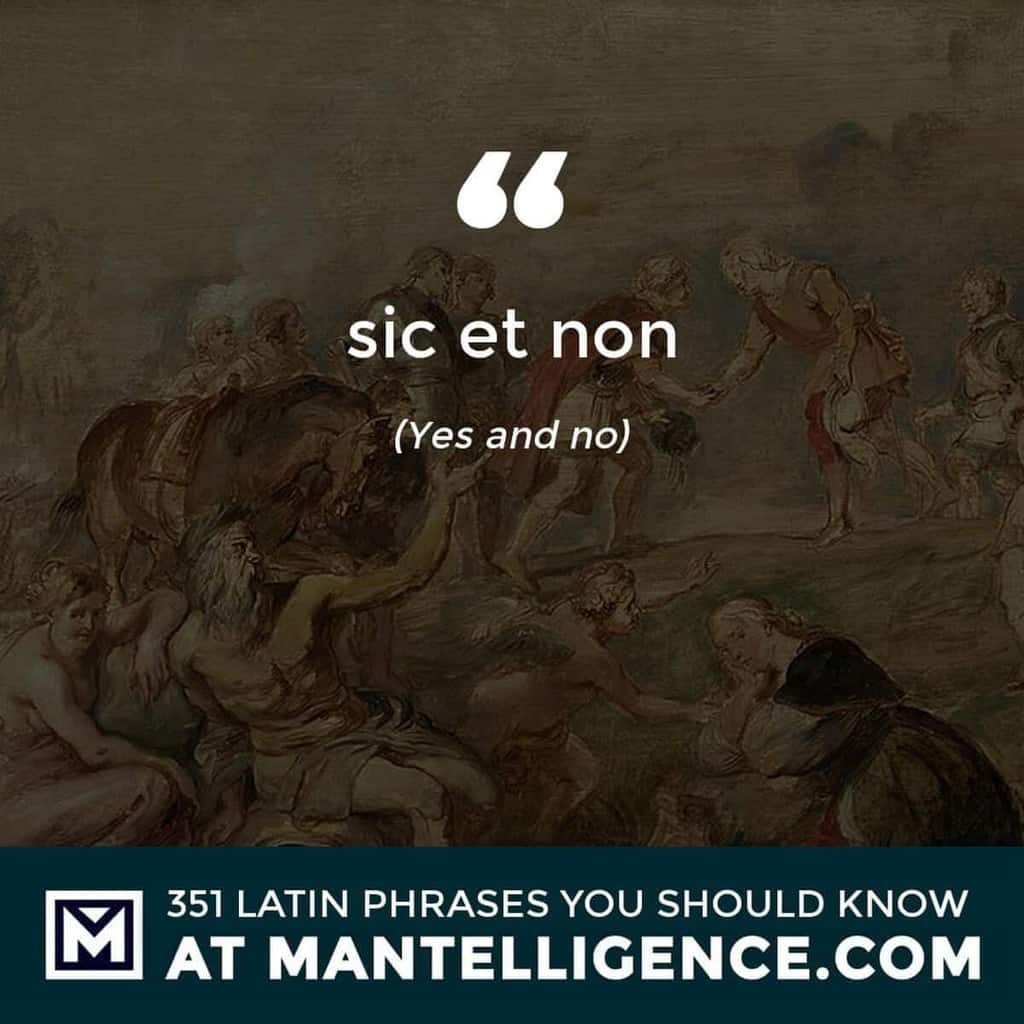 sic et non - Yes and no
