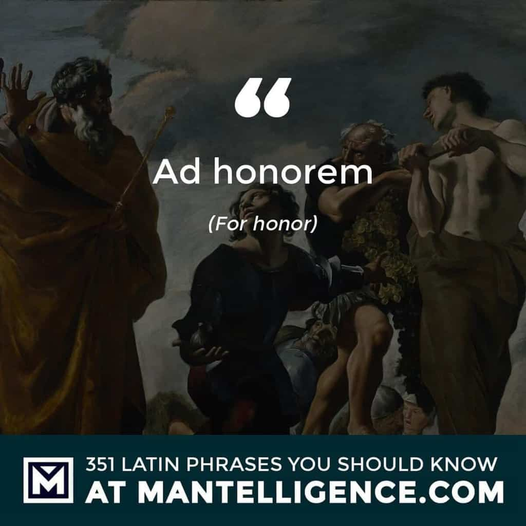 Ad honorem - For honor
