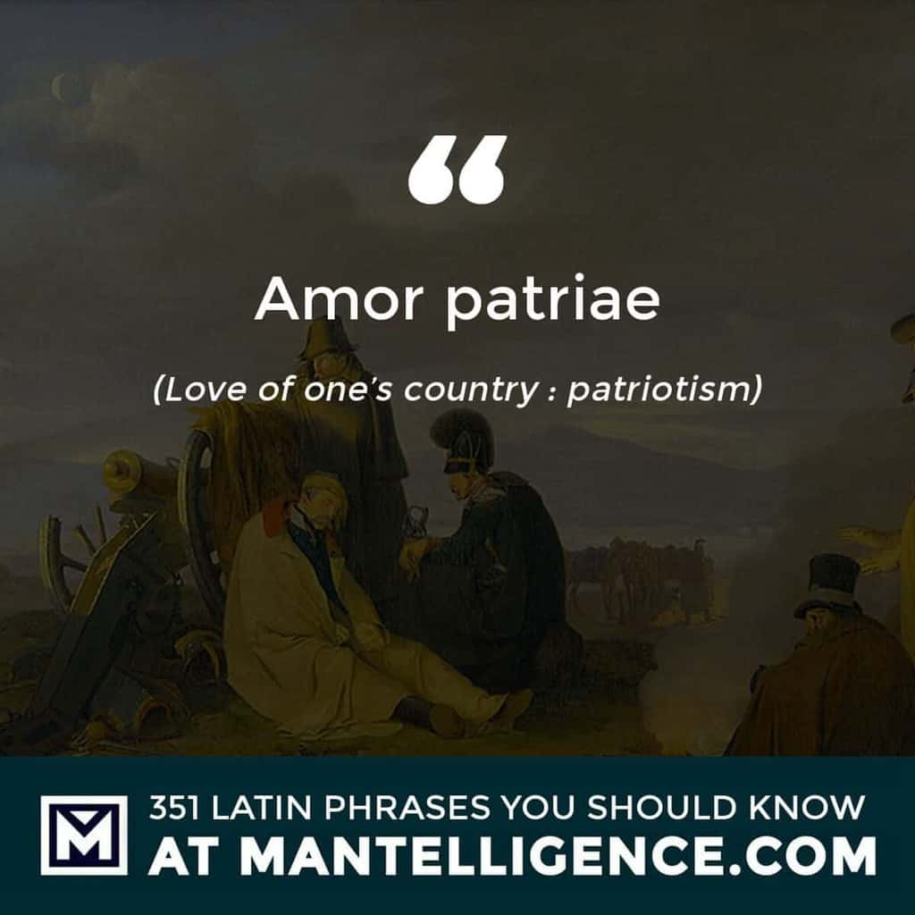 Amor patriae - Love of one's country : patriotism