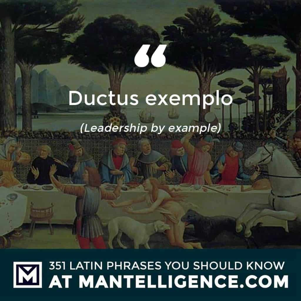 Ductus exemplo - Leadership by example