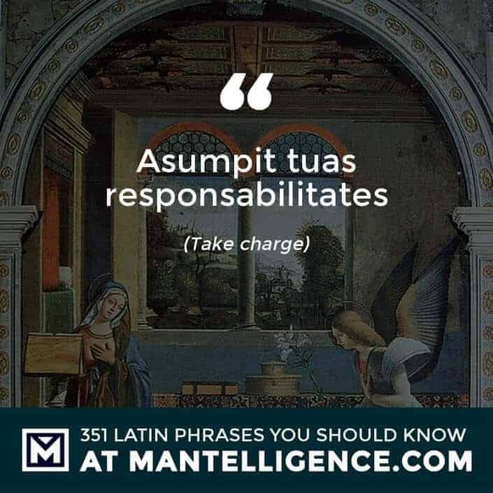 Asumpit tuas responsabilitates - Take charge