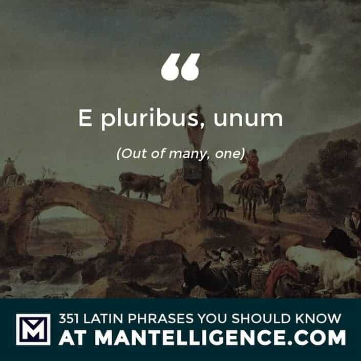 E pluribus, unum - Out of many, one