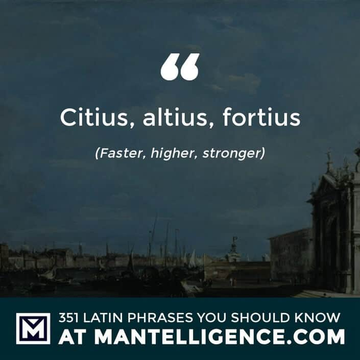 Citius, altius, fortius - Faster, higher, stronger