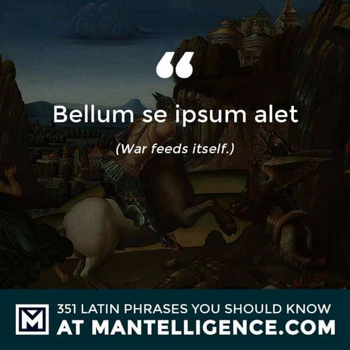 latin quotes - Bellum se ipsum alet - War feeds itself.