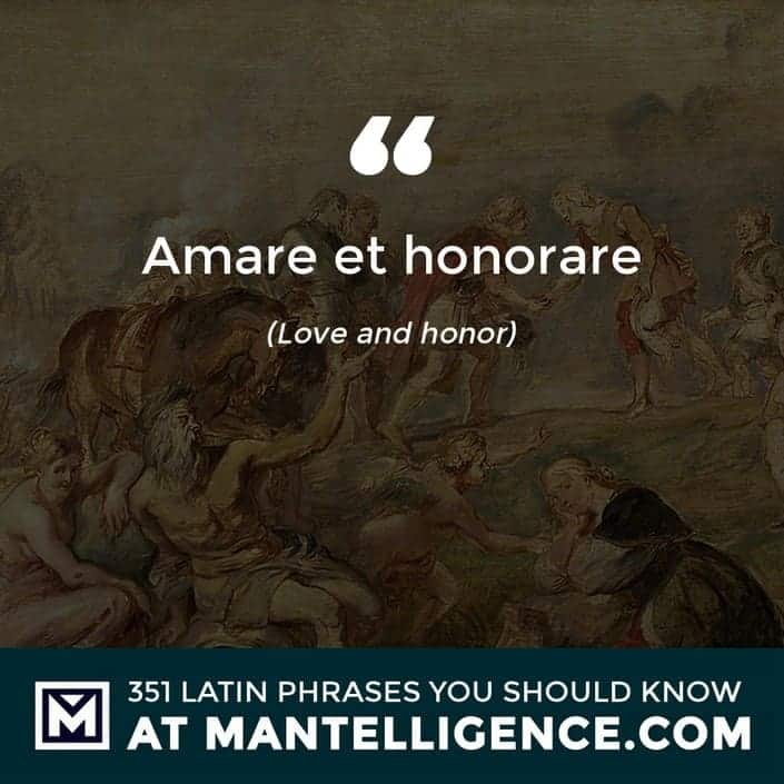 Amare et honorare - Love and honor