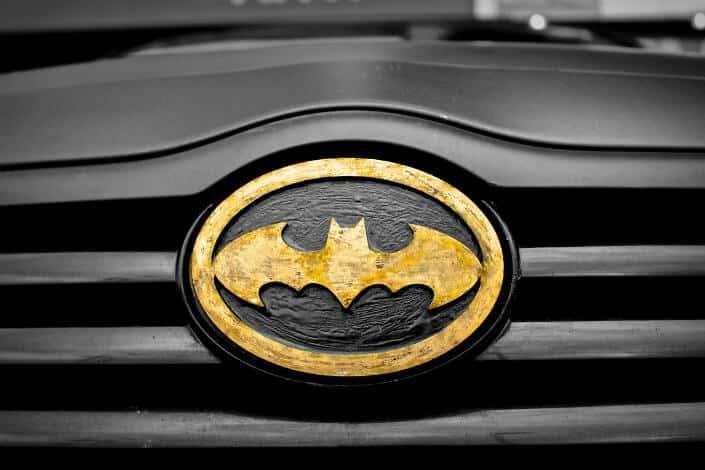 Batman logo on a car