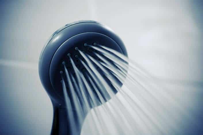 Showerhead releasing water.
