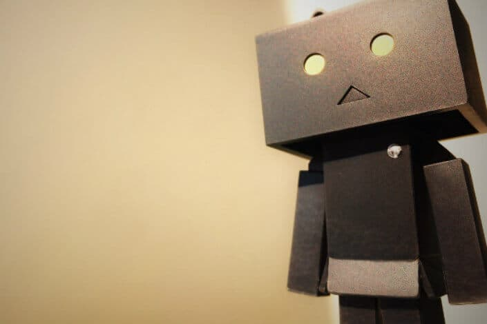 Amazon box toy standing.