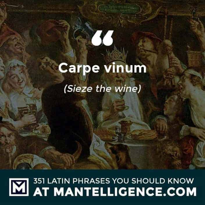 Carpe vinum - Seize the wine