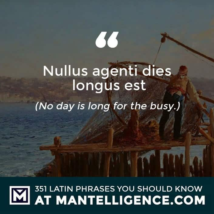 Nullus agenti dies longus est - No day is long for the busy