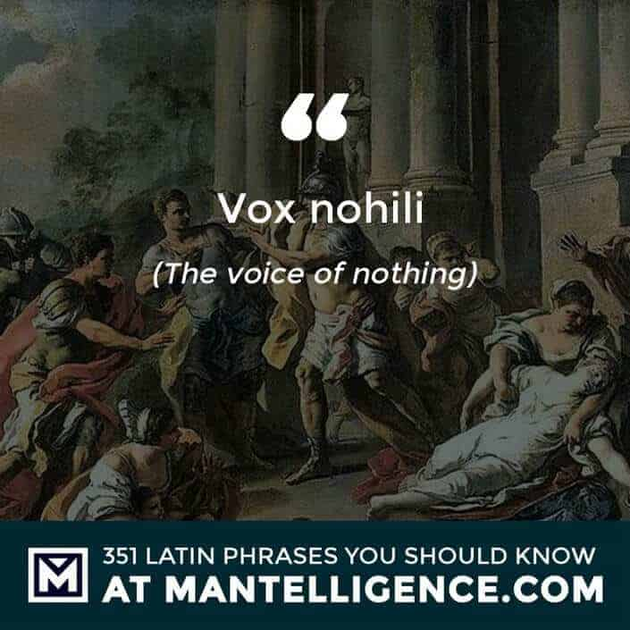 Vox nihili - The voice of nothing