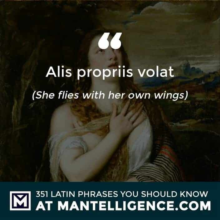 Alis Propriis Volat - She flies with her own wings