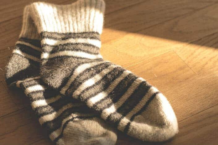 a pair of stripe socks