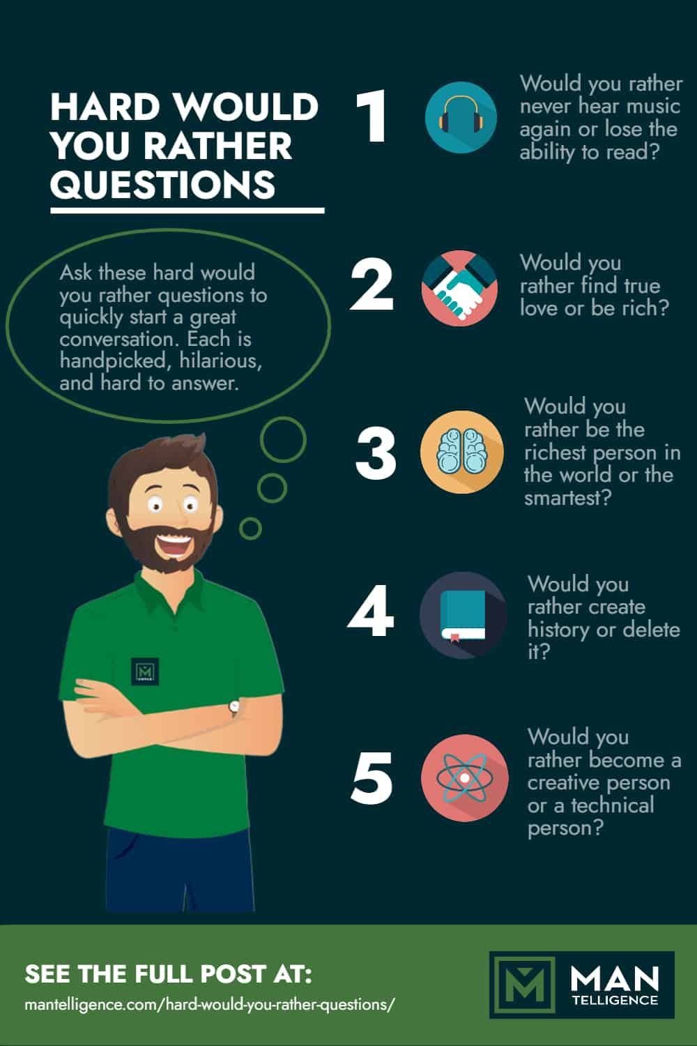 Hard Would You Rather Questions - Infographic