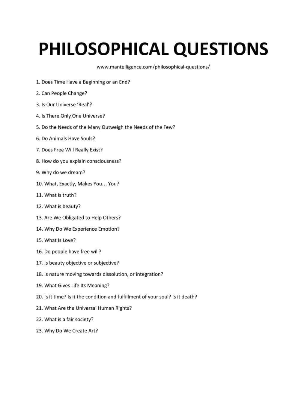 30 Deep Philosophical Questions - Highly thought-provoking