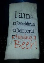 Beer Gifts - Election Poll Digital Embroidery Design – Beer
