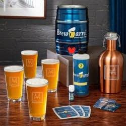 Oakhill Monogram Custom Pint Glasses & Craft Beer Starter Kit