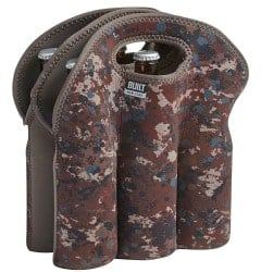 beer gifts - BUILT NY Six-Pack Insulated Neopreane Beer Bottle Tote, Tweed Camo