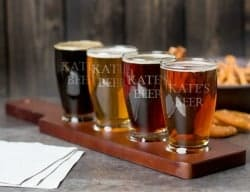 beer gifts - Custom Engraved Craft Beer Flight Sampler